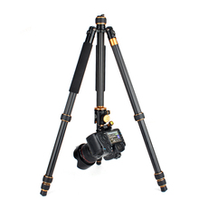 QZSD Q1088 Professional DSLR Camera stand Aluminum Alloy Tripod 15kg Load with Ball Head Monopod Tripe Para Camera Accessories