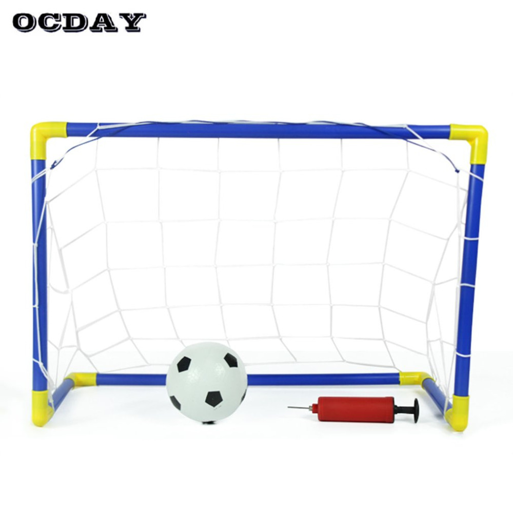 0bce4e2c152e9c Image OCDAY Toys For Children 2 in 1 Mini Football Soccer Hockey Goal Post  Net Set