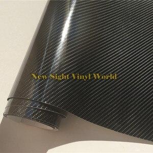 Премиум супер глянцевая черная 5D углеродная волоконная пленка 4D Текстура автомобильная пленка безвоздушные каналы для автомобиля мотоцик...