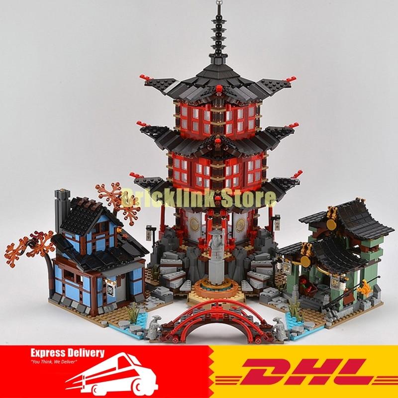 LEPIN 06022 2150Pcs Ninja Temple of Airjitzu Jay Kai Cole Building Block Compatible 70751 Brick Toy dhl in stock lepin 06022 2150pcs ninja temple of airjitzu jay kai cole building blocks bricks set diy toys fit for 70751