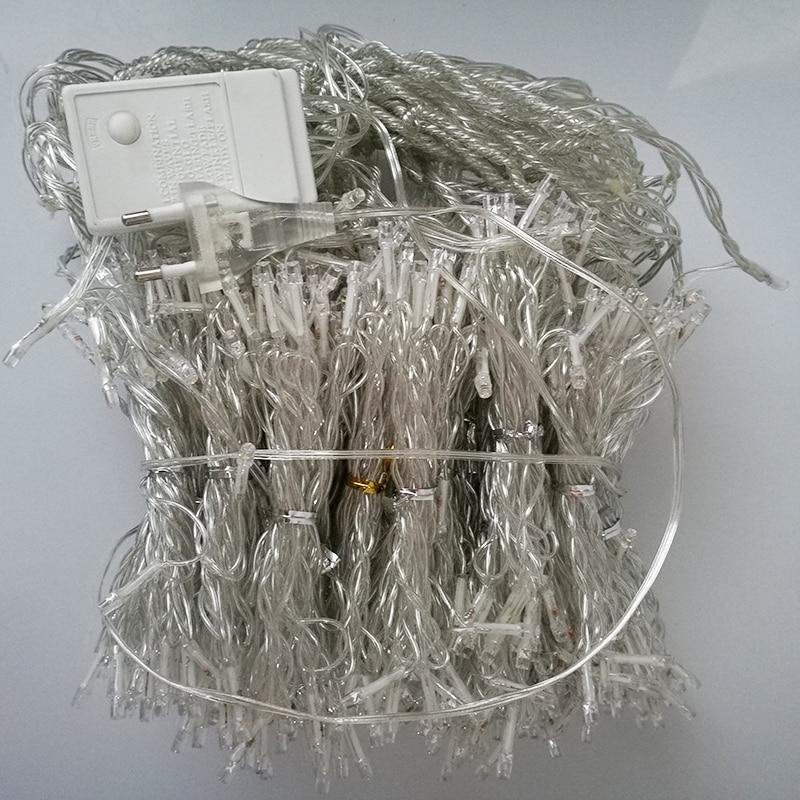 10 * 5m 1600 Żarówki LED Zasłony Garland ciąg światło Boże - Oświetlenie wakacje - Zdjęcie 5