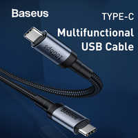 Baseus QC 3.0 USB Type C to Type C Cable Gen2 10Gbps Data Transmission Speed Fast Charging Cable Support Projection Screen