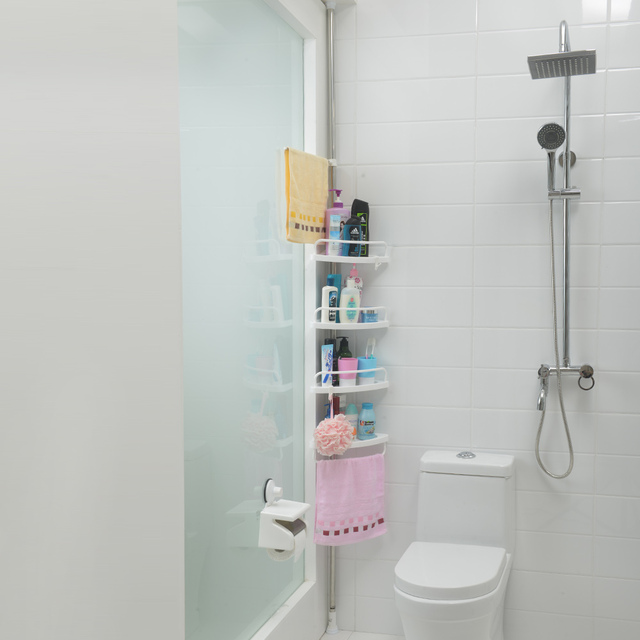Quattro strati angolo doccia caddy mensola angolare bagno - Mensole angolari bagno ...