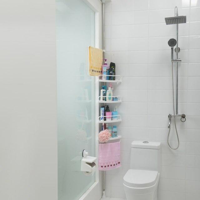 Online Shop four layers shower corner caddy bathroom corner shelf ...