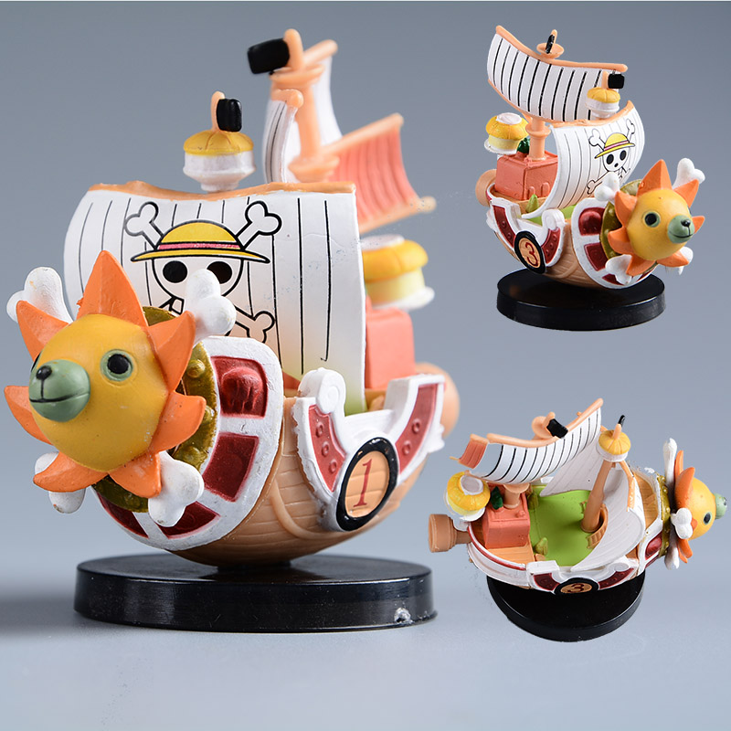 Japanese ONE PIECE Thousand Sunny Pirate Ship PVC Action Figure One Piece Going Merry Ship Model Mini Doll Figuras Kids Toys