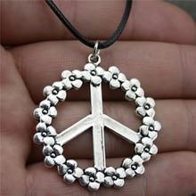 937dfe47d8a1 WYSIWYG 38mm signo de la paz colgante collar Vintage collar de la joyería  Vintage Dropshipping. exclusivo. 2018 nuevas llegadas