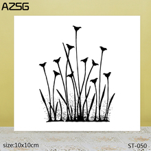 AZSG Thriving Flowers Clear Stamps/Seals For DIY Scrapbooking/Card Making/Album Decorative Silicone Stamp Crafts