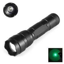 502G CREE XP-E 517-525nm 18650 Green Light Zoom Spotlight 1 Mode Waterproof Outdoor Hunting Tactics LED Flashlight New стоимость