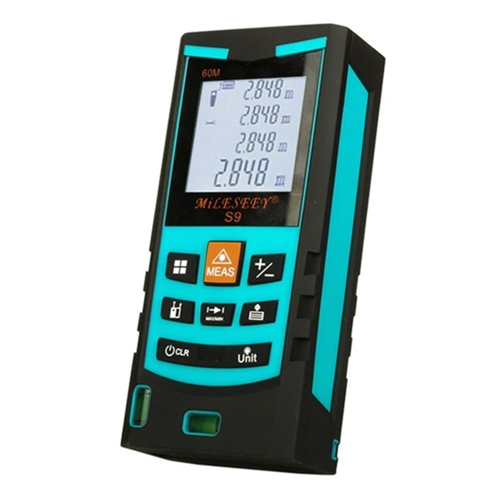 S9 Лазерный дальномер 60 м 80 м 100 м лазерный дальномер Цифровой магнитофон инфракрасный правитель мера площадь/объем инструмент