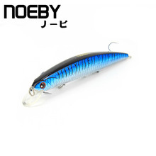 NOEBY 1 Pcs Fishing Lure 130mm/19g 0-1.8m Floating MINNOW VMC treble hooks 3D Eyes Isca Artificial Pesca Leurre Dur Peche