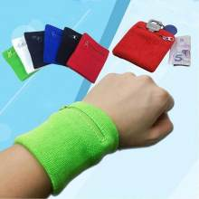 Zipper Wrist Wallet Pouch Running Sports Arm Band Bag For MP3 Key Card Storage Bag Case Badminton Basketball Wristband Sweatband(China)