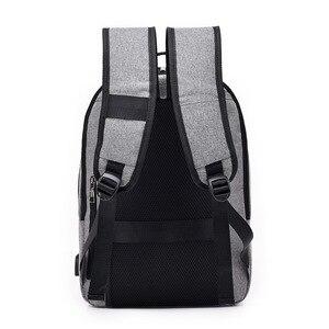 Image 4 - J & Q 2019 Yeni Moda Stil Anti Hırsızlık kilitli çanta Iş rahat sırt çantası Özel Kodlu Kilit USB Şarj Akıllı Fonksiyonel Sırt Çantası
