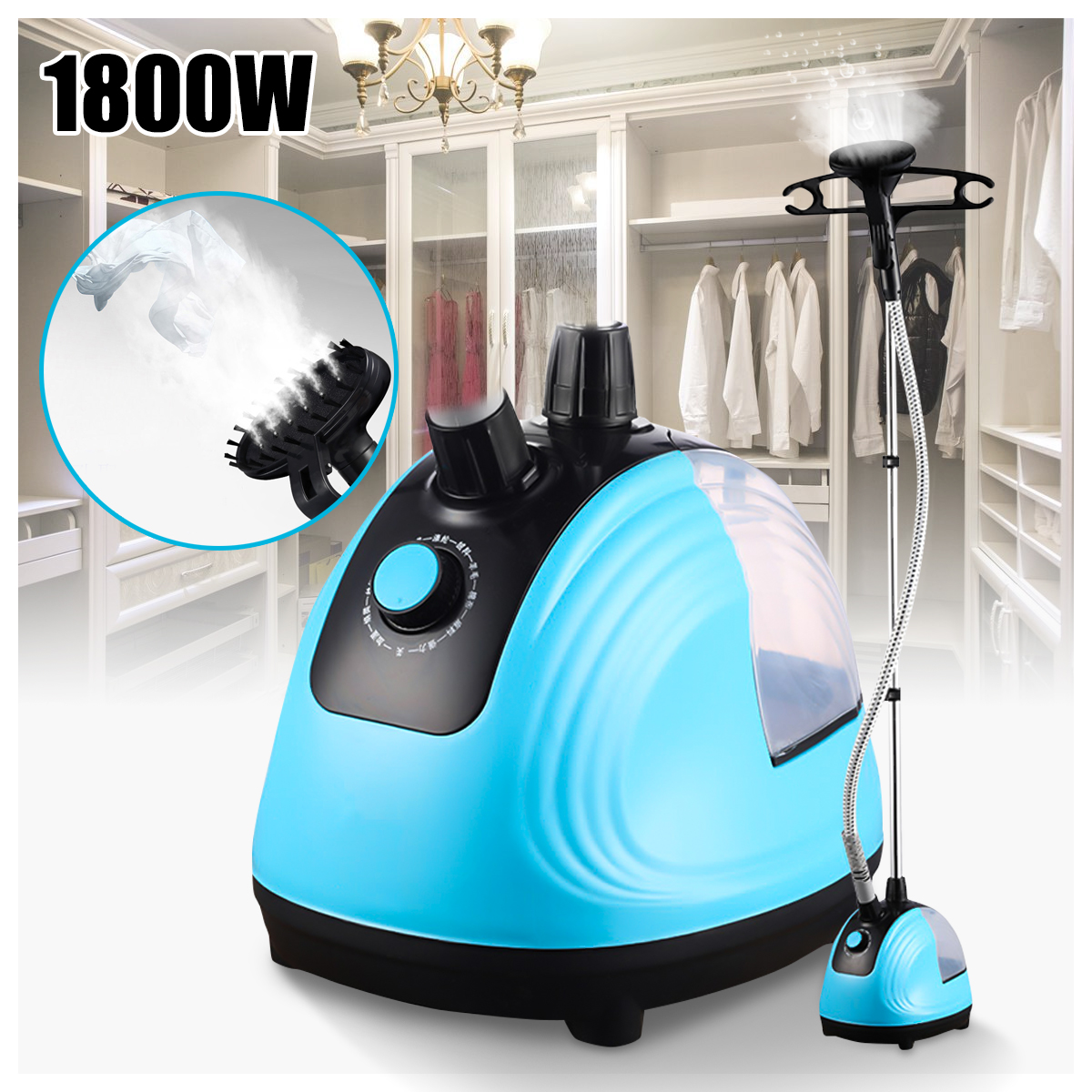 220V 1800W Portable Handheld Garment Steamer Adjustable Electric Irons Clothes Ironer Steamer Garment Hanging Ironing Machine household garment steamer 1 6l handheld clothes steamer vertical steam ironing machine ls 708d