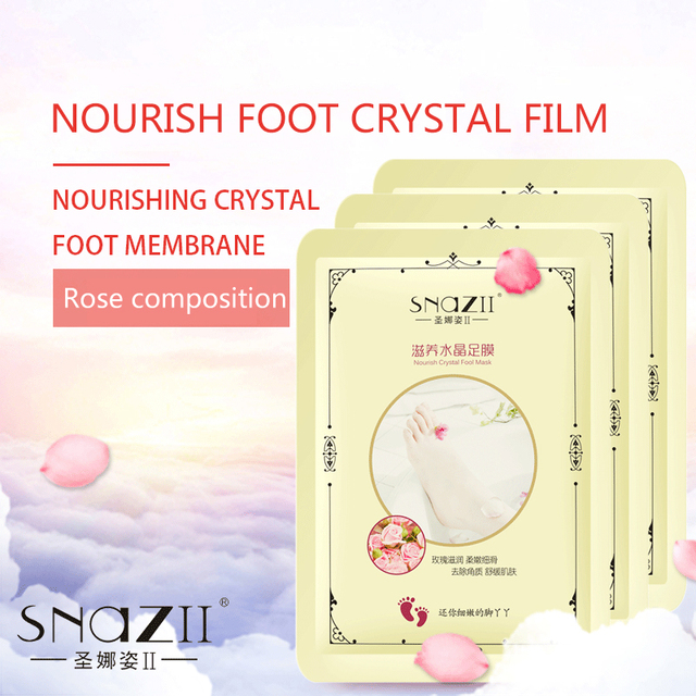 2pcs/Pair Foot Mask Pedicure Remove Dead Skin Cutin Callus Exfoliating Whitening Feet Foot Care Mask for Feet Smooth Skin TSLM2 2