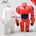 Envío de la Nueva 15 cm Blanco y Rojo Decoración Muñeca de La Big Hero 6 Baymax Figuras de Acción Juguetes para Los Niños regalo