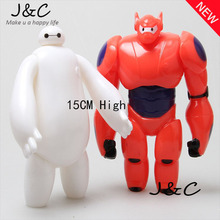 Free Shipping New 15cm White & Red Baymax Decoration Doll The Big Hero 6 Action Figures Toys for Children Gift