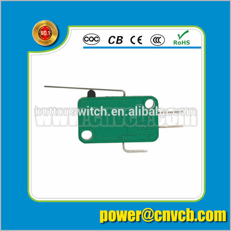 YT KW7-1 Mini operation steel wire hinge lever type elevator micro switch/micro switch 15a 250vac/ long lever switch ...