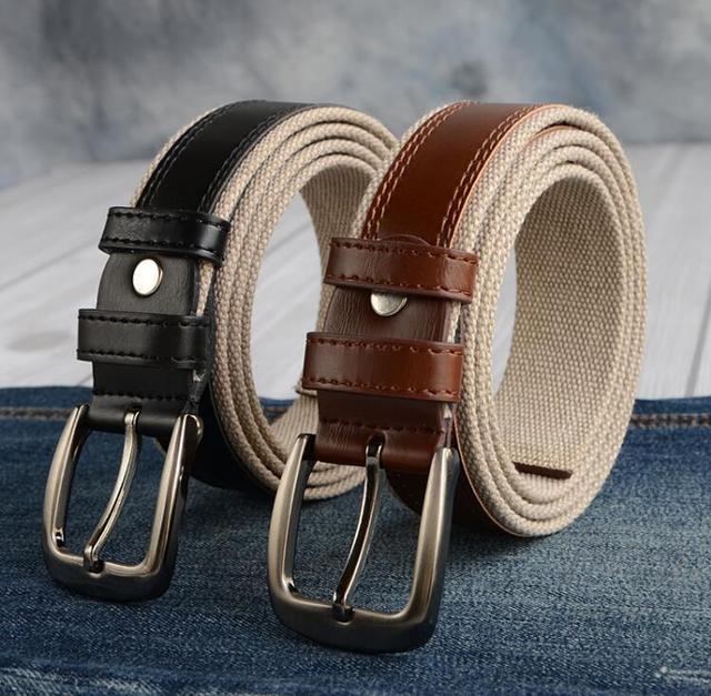 Alta calidad pin hebilla de cinturón de correa de lona