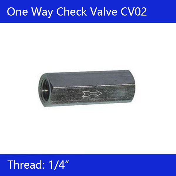Free Shipping 1/4 Caliber one way check valve CV02 air water compressor check valve fuel and vacuum pump check valve 5 11