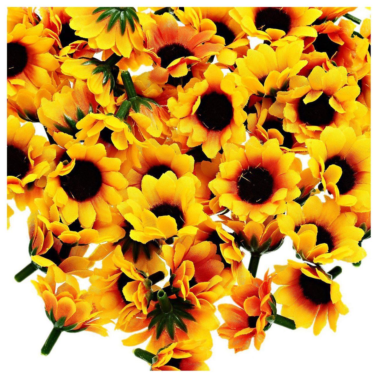 Hot Gczw 100 Pcs Artificial Sunflower Little Daisy Gerbera Flower