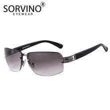 SORVINO Luxury Rimless Rectangle Sunglasses 2018 Men Designer 90s Flat