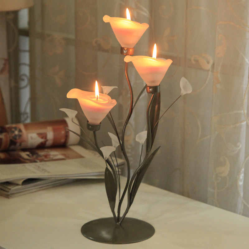 Creative romantic candlelight dinner room night light wedding iron lamp candle lamp decoration bedroom lamps ZA111433 classic candlestick hollow iron art lamp for romantic wedding home decoration