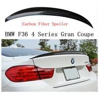 Высокое качество углеродного волокна спойлер для BMW F36 4 серии Gran Coupe 420 428 430 435 2013 2018 заднее крыло спойлеры авто аксессуары