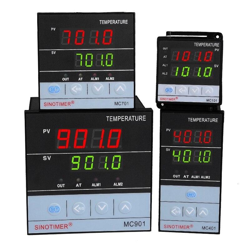 Régulateur de température entrée universelle PT100 K Thermocouple numérique PID SSR sortie relais pour la chaleur refroidir avec alarme Fahrenheit