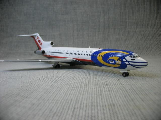 Inflight200 genuino 1:200 USA globale aviation TWA 727-200 modello di aeromobile n64347Inflight200 genuino 1:200 USA globale aviation TWA 727-200 modello di aeromobile n64347