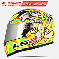 LS2 FF358 full face motorcycle helmet Alex Barros motocross racing man woman ls2 Original ECE approved Multi color sun visor