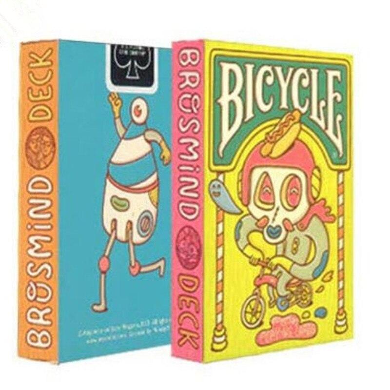 1 قطع عالية الجودة دراجة بوكر بيت الدمية لعب الورق بطاقات brosmind المستوردة هدية جميلة ماجيك الدعائم magia المؤخرة