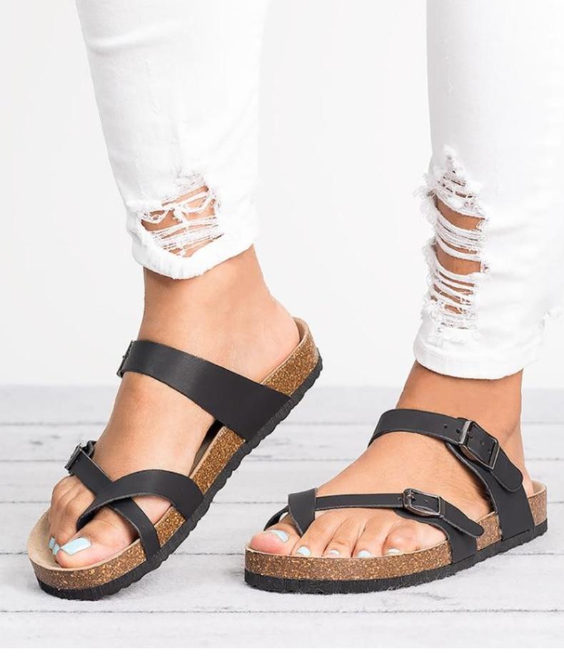 HTB1wKwfNQvoK1RjSZFwq6AiCFXaV Women Sandals Rome Style Summer Sandals For 2019 Flip Flops Plus Size 35-43 Flat Sandals Beach Summer Zapatos Mujer Casual Shoes