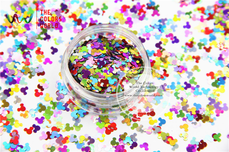 MA4-285 Holographic MIix Colors Mickey Mouse shape Glitter 4.0MM Size Glitter for nail Art makeup DIY and Holiday decorations bluetooth keyboard for lenovo miix 300 10 8 miix 310 320 tablet pc wireless keyboard miix 4 5 pro miix 700 miix 510 720 case