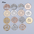 Xuben my 25mm coins crystal disc rose gold interchangeable for holder necklace frame pendant Bracelet women love gift