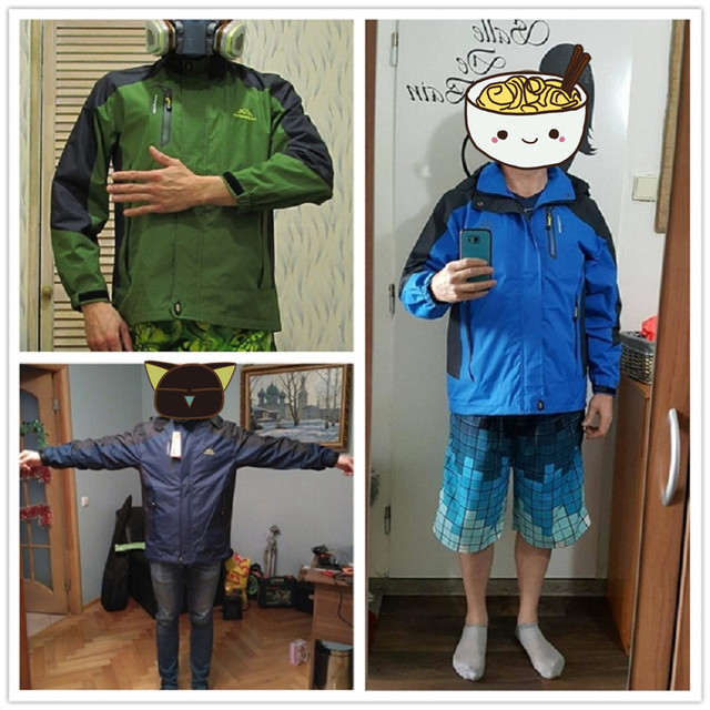 2018 New Spring Autumn Mens Softshell Hiking Jackets Male Outdoor Camping Trekking Climbing Coat For Waterproof Windproof VA002 5