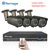 Techage 8CH 1080P HDMI POE NVR Kit 2 8 12mm VF Motorized Zoom Auto Lens 2