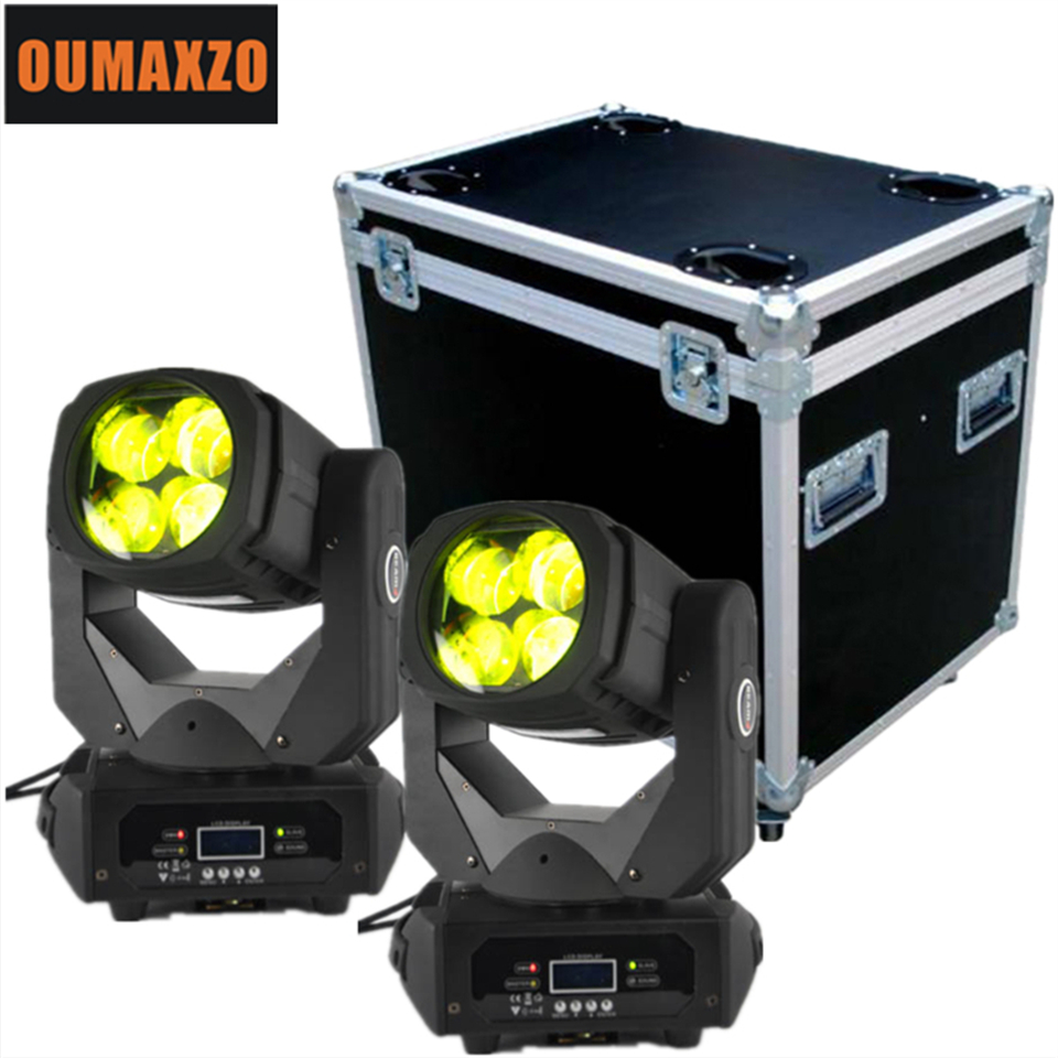 2pcs/lot&flightcase Led Super beam light 4x25w rgbw mini moving head led beam for disco party Super beam 4 mini dj disco 4x25w