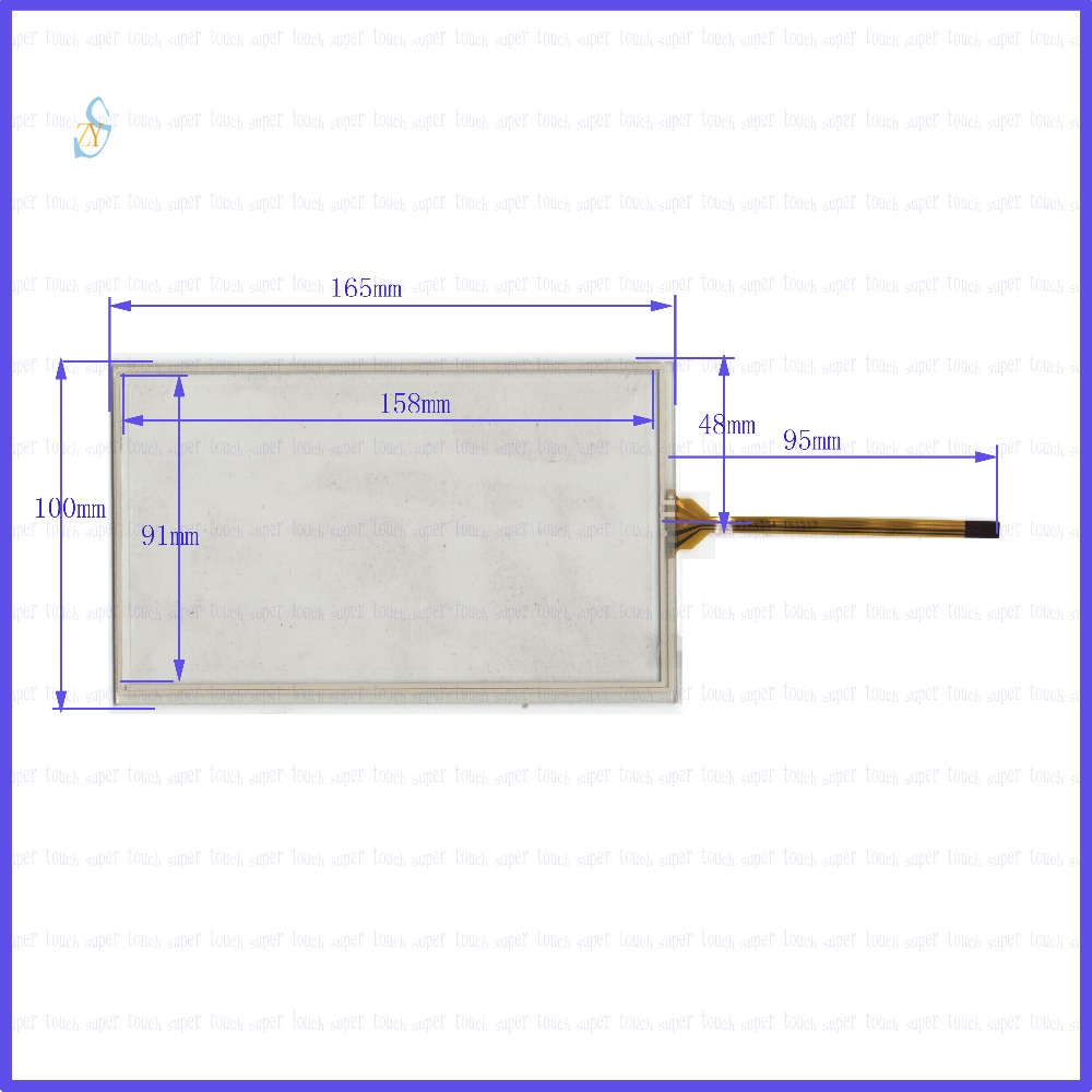 ZhiYuSun  165mm*100mm KDT-4304  7inch Touch Screen glass  resistive USB touch panel overlay kit  165*100 TOUCH SCREEN сенсорная панель other 7 4 165x100mm 165 100 165 100mm