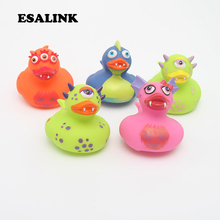 5pcs/lot 2019 hot floating Duckie Cute Baby Water Bathing Toys the dinosaur duck Rubber Duck baby Classic