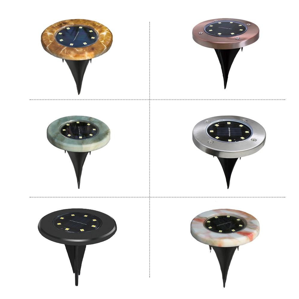 8LED Solar Begraven Licht 1 Pcs Waterdichte Ondergrondse Lamp Tuin Vloer Dek Verlichting Voor Tuin Oprit Terras Trappen Gazon Verlichting