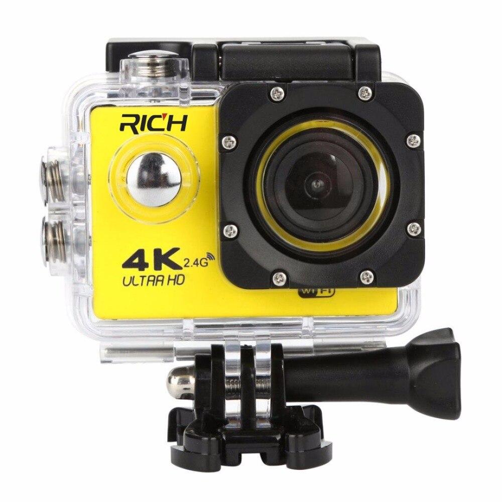 60 F60R 4K Wifi Экшн-камера 16MP 170D Спорт DV 30M Go Водонепроницаемый Pro Экстремальные виды спорта видео велосипед шлем автомобильная камера Dvr