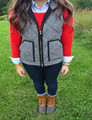 Women Vest 2016 Big Pocket Design Winter Sleeveless Women Cotton Casual Ladies Jackets Puffer Herringbone Vest plus Size M-3XL
