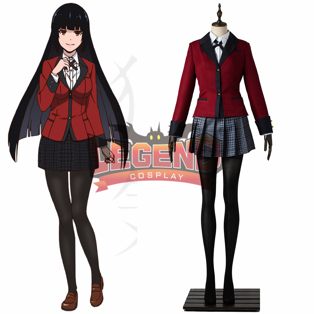 Kakegurui Yumeko Jabami  Yumemi Meari Saotome Cosplay Costume Hyakkaou Private Academy uniform adult halloween girl costume