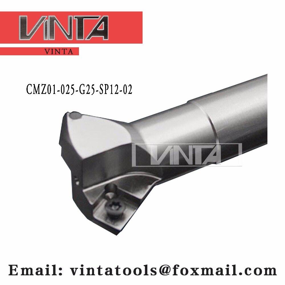 Livraison gratuite CMZ01-025-G25-SP12-02 chanfrein outils de fraisage pour Inserts SPMT120408