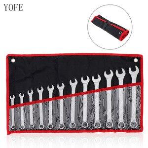 Image 1 - 12 teile/los YOFE 8mm 19mm Kombination Spanner Set Professionelle Ratsche Werkzeug für Installation/Wartung