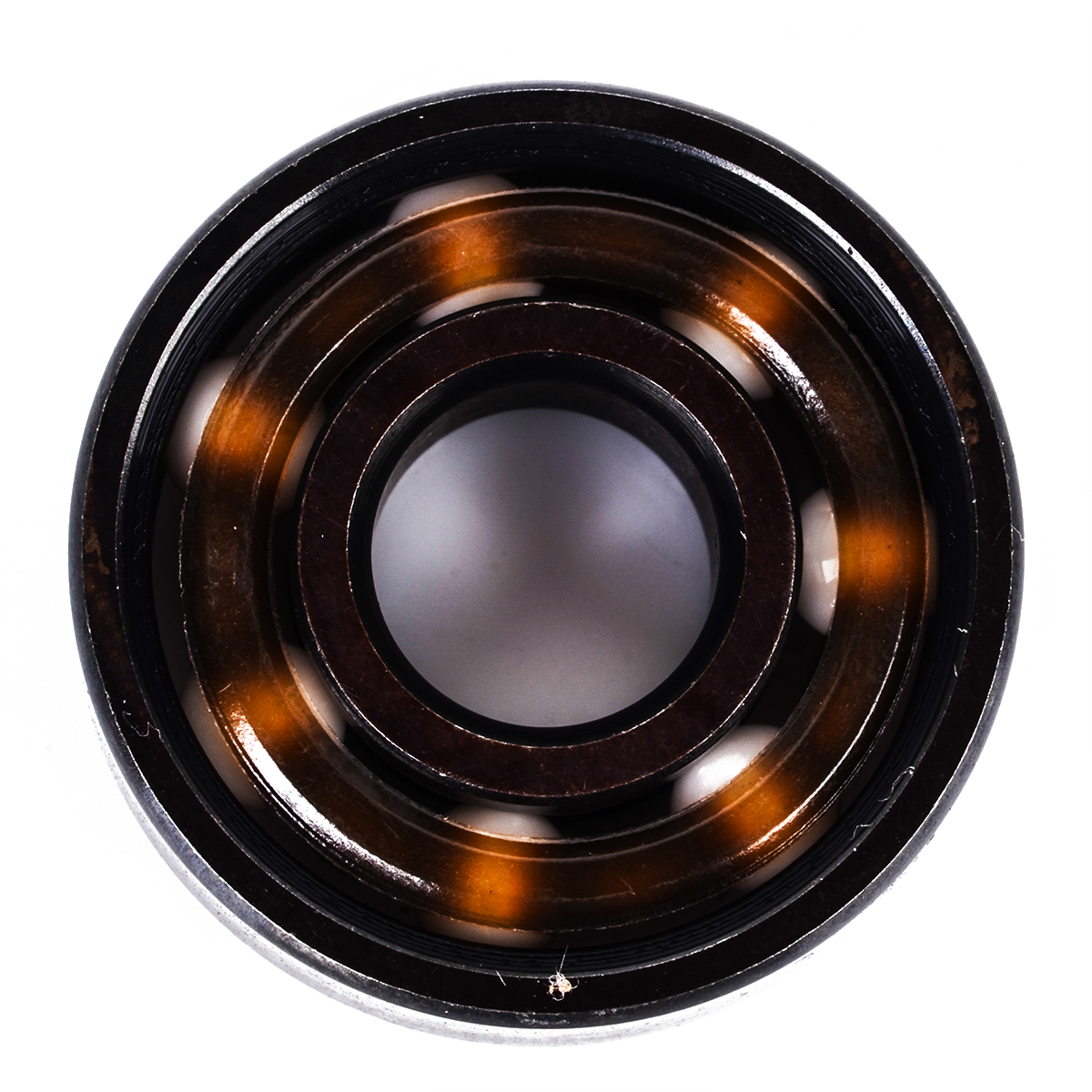 1 Piece New Smooth Moving Mayitr Skateboard Bearings Ceramic Inline Speed 608 Ball Bearing For Finger Spinner Skateboard 4pcs new for ball uff bes m18mg noc80b s04g