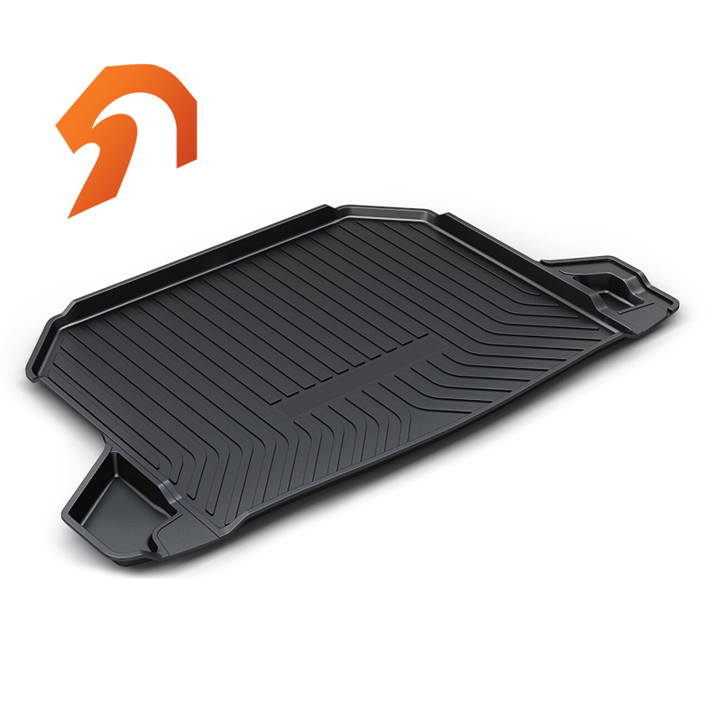 Rubber Rear Trunk Cover Cargo Liner Trunk Tray Floor Mats For Honda Honda HR-V HRV Carpet Liner Mats for mazda cx 5 cx5 2nd gen 2017 2018 interior custom car styling waterproof full set trunk cargo liner mats tray protector