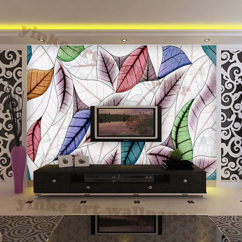 wasserdichte 3d wallpaper graffiti blätter wohnzimmer, Hause deko