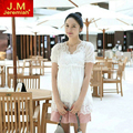 New Arrival Summer Fashion Maternity Clothing Hollow Out Two-Piece Tops for Pregnant Women Cute Short  Maternity Tops X1009