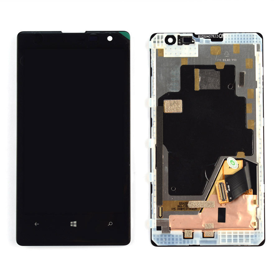 +Frame Black LCD Display + Touch Screen Digitizer Assembly Replacement For Nokia Lumia 1020 Free Shipping lcd screen assembly for apple iphone 4 4g lcd display touch screen digitizer pantalla with frame bezel replacement black white